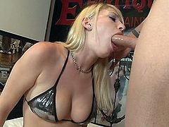Cock hungry blonde bitch with nice tits gets a good fucking