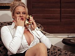 Kelly Madison is a hot businesswoman in need of an orgasm