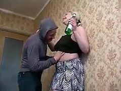after drink mum fucked