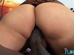 BBC fucks super stretched pussy and anus of slutty brunette