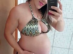 Tifany pregnant wife blonde