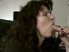 He moans as ugly wife sucks his cock