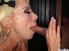 Lollys First Glory Hole Video