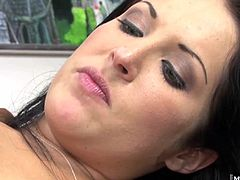 Chelsie Rae letting this hung black dude slide his humongous dark pole in and out of her pink anus actually felt good as the head massaged her from the inside out, eventually resulting in her bum leaking chunky drips of the freshly ejaculated semen.