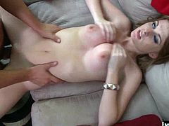 Her ready by eating out her sweet shaved pussy before he slides his big cock in there and gives her a vigorous fucking in this hot oneonone sex scene from Bluebird Films Teen Tapes.