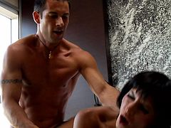 Gorgeous Lucy Belle learns how to ride a monster dick properly