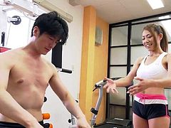 Asian Teen Gets Fucked At The Gym