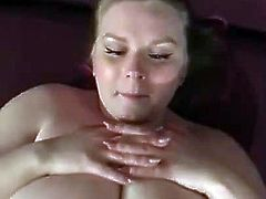 Blonde BBW - Hot POV Titfuck