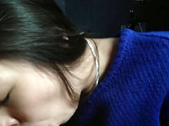 Cute Asian GF Blowjob