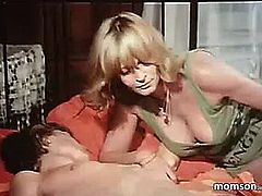 Son has sex with his mother fearsome(german retro incest video)