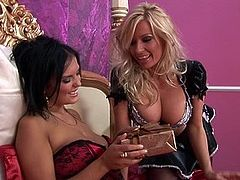 Watch a couple of big-titted British babes finger one another