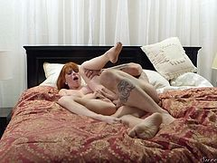 Sex-hungry red head Penny Pax gets her pussy licked and fucked