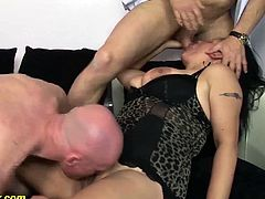 chubby big boob matures first extreme rough anal double penetration fuck lesson