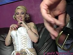 Big load of black dick disappears in stunning Candy Monroe