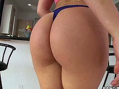 Young hottie Dani Daniels is having dirty sex with her boyfriend