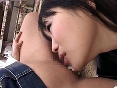 Wild Japanese Party Girls Long Tongue Kissing & Threesome