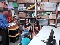 ShopLyfter - Best Friends Blackmailed & Fucked By Dirty Cop