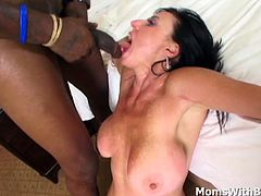 Mature babe Karen Kougar having one of the biggest titties we will ever see got served with an equally big and massive black cock. Showing a unique fucking skill set that you will surely enjoy watching.