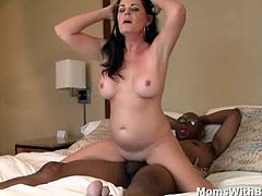 Horny milf Bella Roxxx wants serious sex with a big black cock. Not minding positions and where she gets nutted. And since she doesn't she got nutted inside her sweet mature pussy. A fabulous creampie ending.