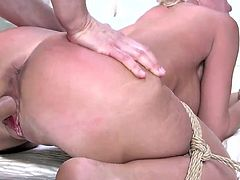 London prefers painful and rough sex. It may seem strange, but that's how she is. She naturally gets wet as she gets fucked, but what really gets her off is being spanked, smacked, and shocked. Add to that having to be submissive, and you have one horny woman!