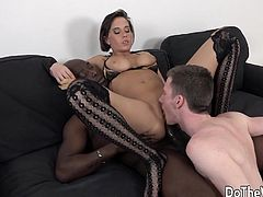 Swinger wife sucks a BBC in front of her hubby Then She takes the BBC in her asshole and pussy and gets pounded Her hubby licks her pussy She gets pussy creampied and hubby takes it in mouth