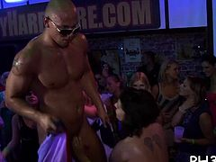 Cheeks in club screwed and sucked undress dancers shlong