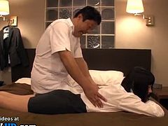 Japanese pantyhose lady massage sex