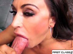 FirstClassPOV - Claudia Valentine sucking a big dick, big bo