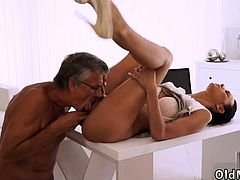 Old man caught masturbating first time Finally she's got