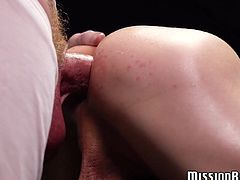 Obedient Mormon twink gives his ass to his mature elder