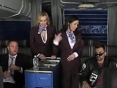 clothed stewardess fucked in first class