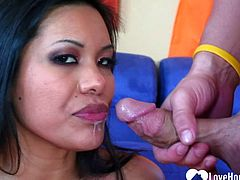 Hot Asian cannot have enough of his cock