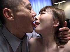 JAV drama reaches fever pitch as a stark naked and married Aya Kisaki finds herself and her pale butt the target of the mafia featuring rimjobs and an audience in HD with English subtitles