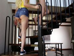 Delicious blonde Elsa Jean is making love with two girlfriends