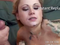 Young Blonde Slut Swallowing The Cum Of 11 Guys