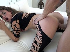 Horny Spanish hoe in sexy lingerie Julia Roca gives an unforgettable rimjob