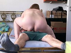 german bbw facesitting and riding lucky guy