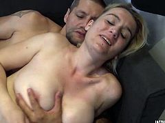 French amateur blonde Alysée gets fucked hard
