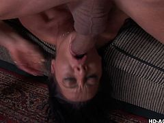 Dick starved Sandra Romain attacks a man's with a huge cock