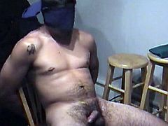 Before he lets me tie him up, Zack wants to watch some of the porn video and tug on his dick to get it hard. As soon as hes ready I tie his hands and blindfold him before we continue. I lube his dick and it swells up in my hands as I stroke and lick. When I go down on him he starts fucking my mouth and in no time hes moaning loudly and shooting his cum load onto my lips.