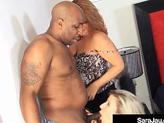 PAWG Milfs Sara Jay & Kate Faucett Fucked By Big Black Cock!
