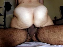Looks soft but that big ass is mostly muscle and strong. Man up and hold your load until she is done squeezing your cock hard and using it to make herself cum