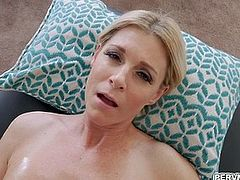 Stuffing stepmoms pussy with my fist and cock
