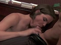 Sultry business woman Bobbi Starr seduces her client