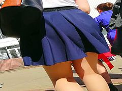 Upskirt at the street 6.4