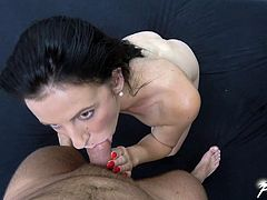 Brunette chick Luciana Devil gets her ass smashed by a fat cock