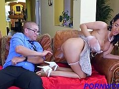 Latin girl fucked in office by manager