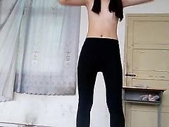 Really Beautiful Chinese girl's strip dance part-2