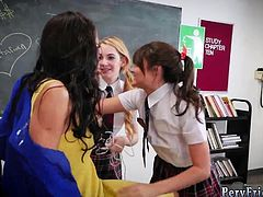 Lesbian girl scout first time After School Detention