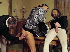 Seductive lady Jasmine Jae is fucked by two hot blooded lords
